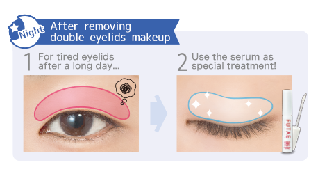 After removing the double eyelids makeup